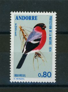#Bird on stamp of #Andorra. French Mail. More about stamps: http://sammler.com/stamps/