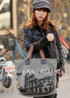 Aliexpress.com : Buy Roman Canvas duck big Handbags shoulder bag totes Lady girl's Fashion brand mulit color for lovers unisex CN post from Reliable bag handbag purse suppliers on China Rui International Bags Trading Co., Ltd. $23.80
