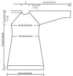 """DROPS 96-14 - DROPS Lange trui of jurkje met raglanmouwen en decoratieve knopen van """"Ull-flamé"""". Maat S t/m XXL. - Free pattern by DROPS Design"""