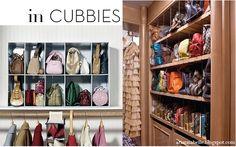 handbag organization ideas