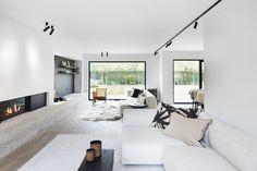 Minimalist Home Interior, Minimalist Bedroom, Modern Interior, Home Interior Design, Minimalist House, White House Interior, Exterior Design, Living Room Designs, Living Room Decor