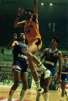 Cibona Zagreb Vs KK Split, 87/88. Toni Kukoc, Drazen Petrovic & Danko Cvjeticanin.