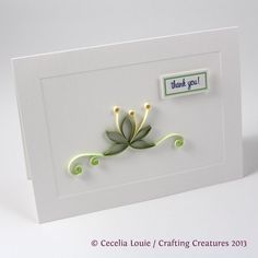 Crafting Creatures: Quilled Thank You Cards (1 of 8)