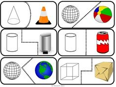 Learning about the four solid shapes can be fun! Here are 20 self checking puzzle pieces of spheres, cubes, cones, and cylinders.The instruction page has several games to play using these pieces.