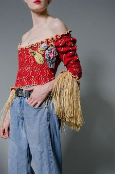 Vivienne Westwood Liberty Knit Corset by MODERNARCHIVEVINTAGE                                                                                                                                                      More