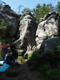 Climbing - Easy - Having a break in between the climbs.