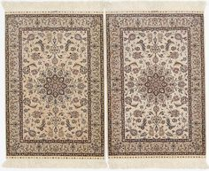 Two pair silk scatter rugs design Ivory Rugs, Scatter Rugs, Colorful Rugs, Chinese, Silk, Design, Home Decor, Decoration Home, Room Decor