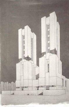 Mario Chiattone  Cathedral, 1914