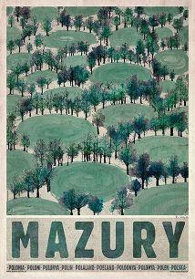 Mazury-wiosna, Plakat z serii Polska, R. Kaja