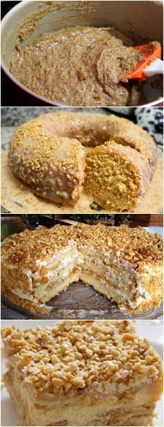 APRENDA ESSA RECEITA DELICIOSA DE BOLO CREMOSO DE AMENDOIM..HUMMM VEJA AQUI>>>Asse no forno pré-aquecido a 200°c durante 30 minutos ou até que, espetando um palito, ele saia seco. #receita#bolo#torta#doce#sobremesa#aniversario#pudim#mousse#pave#Cheesecake#chocolate#confeitaria