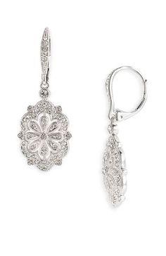 Nadri Filigree Flower Drop Earrings | Nordstrom