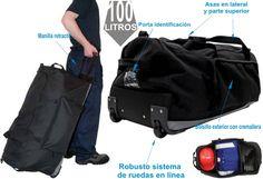 Bolsa de Viaje Trolley Negra Trolley, Bags, Fashion, Work Clothes, Suitcases, Backpacks, Trips, Purses, Fashion Styles