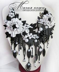 Beautiful leather jewelry by Svetlana Hramovskih   Beads Magic
