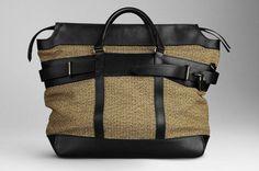 Bolsa masculina Burberry em Tweed