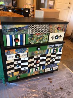 Recycled, upcycled mid century chest of drawers!