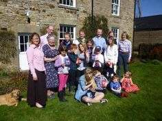 A family get together at Ryehill Farm, Northumberland, UK