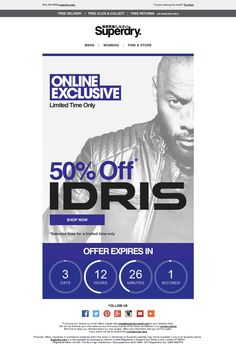 Superdry IDRIS Email / Newsletter Design