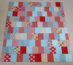 Have some scraps left over from your last quilt? No need to worry about an overload of fabric; get rid of some of them with the Easy as Pie Stash Quilt. With a slightly vintage flair, you can make scrap quilt designs into blocky quilts.