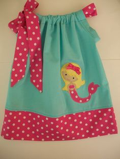 Mermaid Pillowcase dress, birthday dress, pool party dress, any occasion, Size 3 months to 6 years old girl by amaritascloset on Etsy https://www.etsy.com/listing/110612131/mermaid-pillowcase-dress-birthday-dress