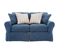 Cindy Crawford Home Beachside Blue Denim Sofa 3322 In