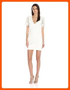 French Connection Women's Mesi Macrame Jersey Dress, Summer White, 4 - All about women (*Amazon Partner-Link)
