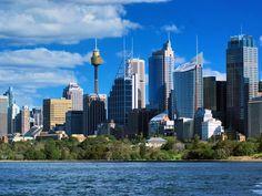 sydney in australia wallpaper Sydney Skyline, Seattle Skyline, New York Skyline, Most Beautiful Cities, Beautiful World, Australia Tourist Attractions, Sydney Ferries, Australia Wallpaper, City Sky