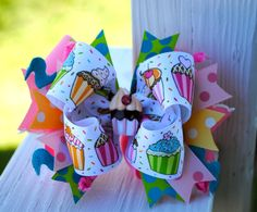 Cherry on Top Birthday Hair Bow