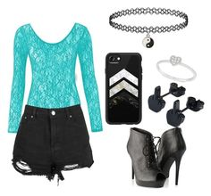 """""""look #5"""" by emmyla-erana on Polyvore featuring Boohoo, Casetify, Allurez and Forever 21"""