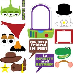 Toy Story Photo Booth Prop/Centerpiece by PrincessPrintingCo                                                                                                                                                                                 Mais