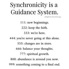 Synchronicity is guidance system Chakra, Affirmations, Angel Number Meanings, 555 Angel Numbers, Numerology Chart, Numerology Calculation, Spirit Science, Trust The Process, Keep The Faith