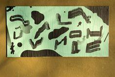 """Jérôme Bizien, Ficciones Typografika 787-789 (24""""x36""""). Installed on February 11, 2015. More: http://ficciones-typografika.tumblr.com/"""