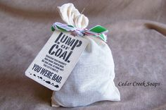 Lump of Coal Soap Stocking Stuffer Christmas by CedarCreekSoaps1, $6.75