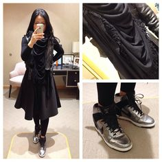 Wearing my Rick Owens oversized wrap as a bib. Perfect purchase this winter. #rickowens #oversizedscarf #givenchy #leather #jacket #hm #skirt #hermes #nike #newyork #limited #skyhighdunks #fashionweek #kicks #sneakers #msneakerpimp #blogger #style #mystyle #fashion #ootd #instagood #instastyle #wearingnow #whatiwore #pictureoftheday #photooftheday