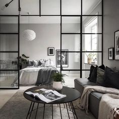 37 brilliant solution small apartment living room decor ideas and remodel 18 Living Room And Bedroom In One, Living Room Kitchen, Home Decor Bedroom, Interior Design Living Room, Living Room Designs, Living Room Decor, Design Bedroom, Bedroom Furniture, Bedroom Hacks