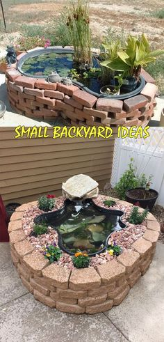 Amazing Ideas for Small Backyard Landscaping - Great Affordable Backyard ideas Small Backyard Ponds, Ponds For Small Gardens, Backyard Water Feature, Small Ponds, Small Patio, Small Backyard Landscaping, Landscaping With Rocks, Landscaping Tips, Fun Backyard