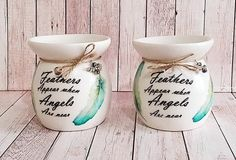 Your place to buy and sell all things handmade Wax Burner, Decoupage Art, Oil Burners, Unusual Things, Christmas Gifts, Christmas Ideas, Wax Melts, Fragrance Oil, Feathers
