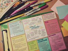 The Organised Student : Photo ||| university, notes, school, student, study, inspiration, inspo