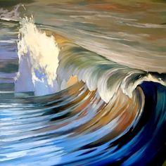 "Up to 17/"" 0.25/"" border Print Realism //Orange Sunset// canvas Seascape Medium"