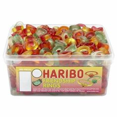Haribo Friendship Rings Jelly Sweets 300 Pieces Full Tub: Amazon.co.uk: Grocery