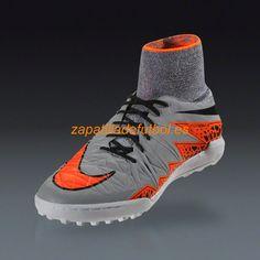 new style 02107 67dd7 Zapatos soccer Para Moqueta Nike Hypervenom X TF Lobo Gris Naranja Total  Sccrx