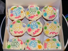 Volleyball cupcakes by christylacy, via Flickr.