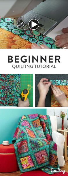 Just getting started with quilting? Get short, simple and easy steps for completing a full quilt in this quick video tutorial for beginners. (Diy Crafts For Baby)