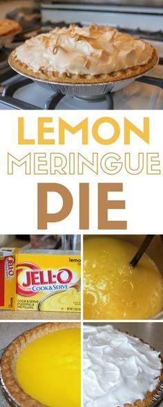 Lemon Meringue Pie  Easy Recipe   Dessert Recipes   DIY