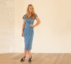 Pleating Blue Bridesmaid Dress, Turquoise Convertible Infinity Wrap