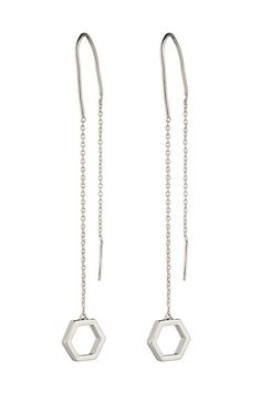 Free shipping and returns on Eddie Borgo 'Halo' Drop Earrings at Nordstrom.com. Hexagonal hardware weights the longer chain of a two-sided drop earring reflecting mirror-like polish.