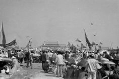 The Chinese government declared martial law in urban Beijing on May 20, and later military helicopters dropped leaflets over Tiananmen Square warning protesters to leave. Credit David Chen