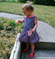 a55cb75db8b6c  Sew Can Do Adorable dress tutorial featuring Karen Snyder s Red
