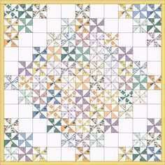 Make four and sew together for a larger quilt. Would make another diamond in the middle then. Lap Quilts, Scrappy Quilts, Small Quilts, Mini Quilts, Quilting Tutorials, Quilting Projects, Quilting Designs, Quilting Ideas, Pinwheel Quilt Pattern