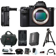 "Sony Alpha a7II Mirrorless Digital Camera with Vertical Grip and 39"" Tripod Accessory Bundle (Body Only)"