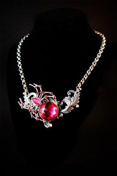 Goth:  #Goth Spider Necklace.